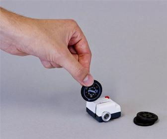 Projecteo is a tiny projector for showing 35mm prints of Instagram photos