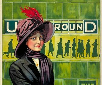 Vintage Tube posters showcased on London Underground's 150th birthday