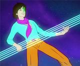 Watch this gloriously bright animated music video that sends The Pains on a space adventure