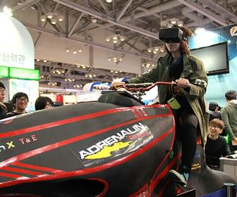 New Oculus Rift VR games draws crowds at Korea's G-Star show