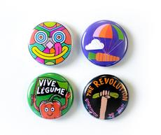 Jean Jullien, Supermundane and more design badges for Farmdrop's 'local food revolution'