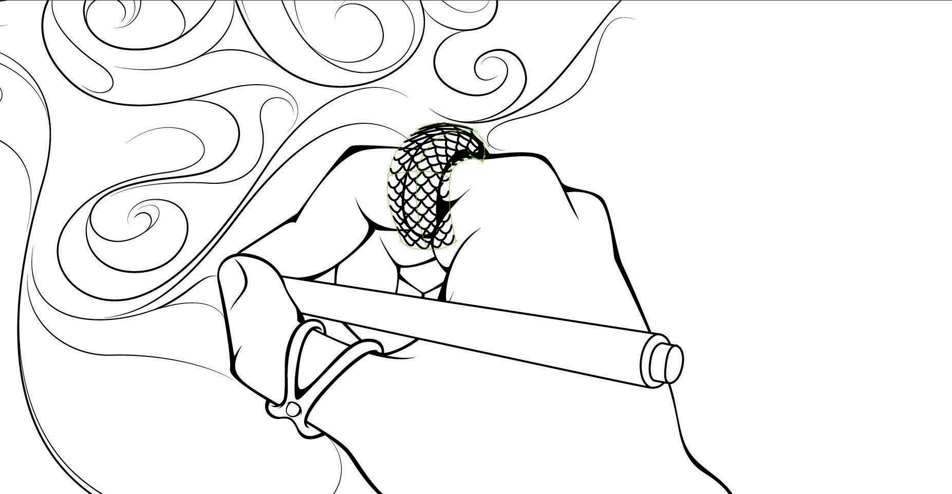 Make a coloring book page with photoshop - Step 9