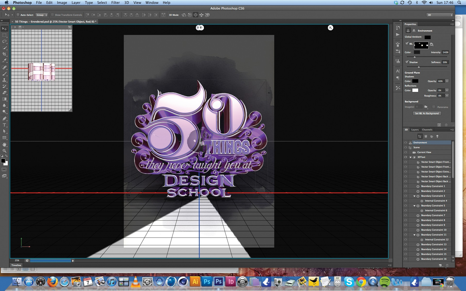 3d type tutorial create 3d type using photoshop cs6 for Make 3d online