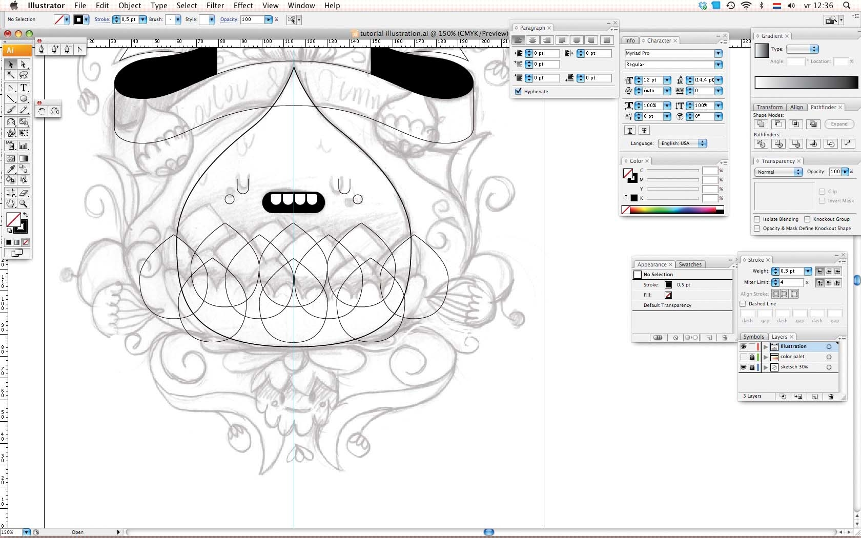 Adobe Illustrator Essentials For Character Design : Adobe illustrator tutorial design symmetrical character