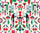 Illustrators design bold patterns for Heal's first modern fabric line