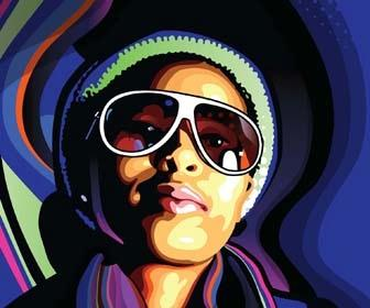 Create stylish vector portraits