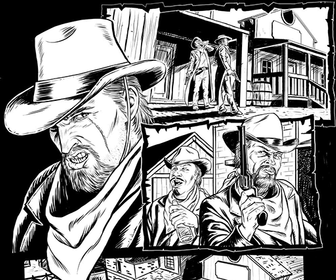 Create a digital comic, from sketch to pencil drawing to inks