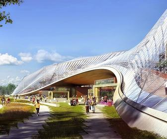 See Google's sci-fi design for its movable new headquarters