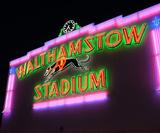 Walthamstow Stadium's iconic neon lights have been restored