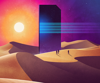James White's surreal, retro artworks will take you to another world
