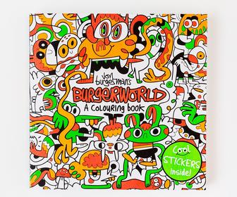 How 'king of doodle art' Jon Burgerman created his first colouring book