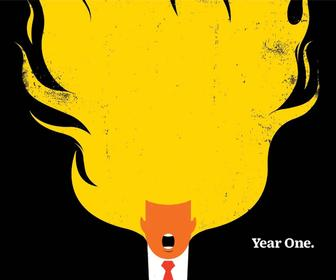 Brutal magazine cover designs of Donald Trump set to continue in 2018