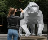 Design house Marokka has used AR to let low-poly animals roam London's financial district